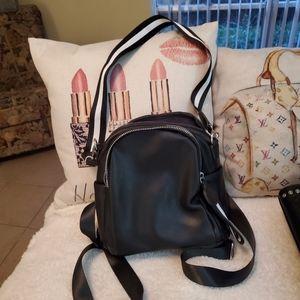 New mini backpack leather